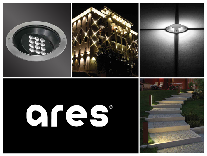 Spoľahlivé a moderné exteriérové svietidlá značky Ares. Štýlové LED svietidlá na fasády a chodníky s unikátnym svetelným efektom.