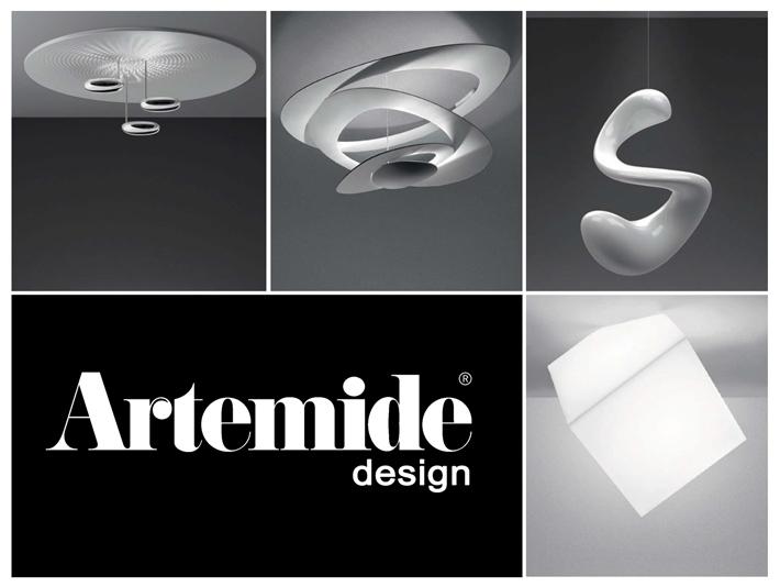 Artemide svietidlá, taliansky dizajn, moderné lampy unikátnych vyhotovení.