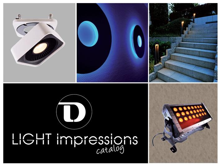 Katalóg LED svietidiel Impressions. Nástenné, stropné, závesné svietidlá do exteriéru, interiéru, záhrad a fontán.