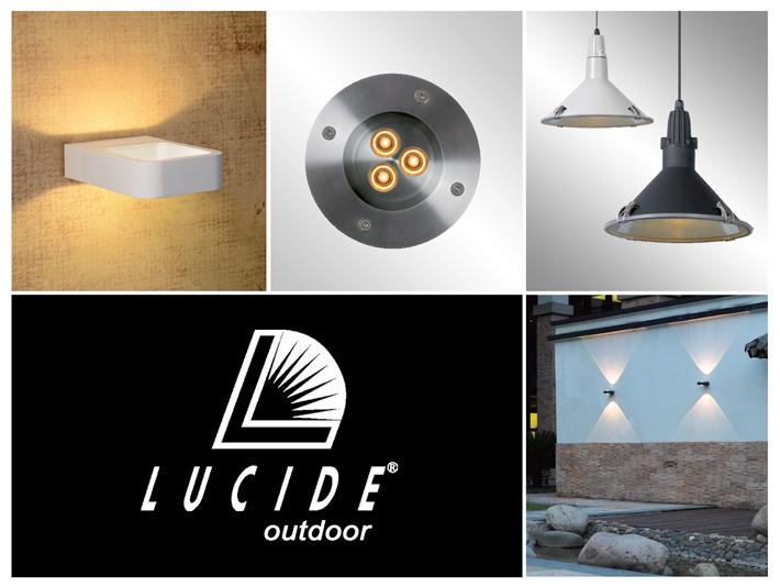 Lucide svietidlá do exteriéru. Moderné minimalistické vonkajšie osvetlenie ako aj rustikálne staromódne lampy.