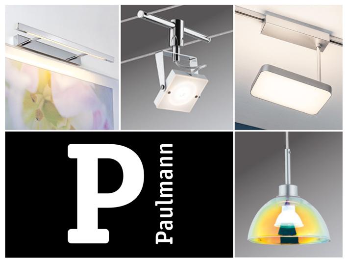 Svietidlá pre domácnosť Paulmann. Závesné a lankové systémy, LED svietidlá, exteriérové dekoračné osvetlenie.