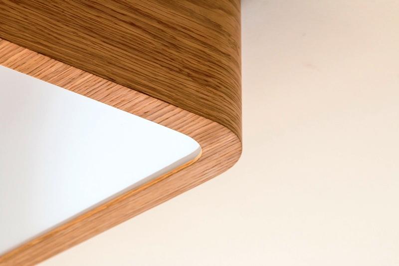 Drevené svietidlo woodLED Square - detail svietidla