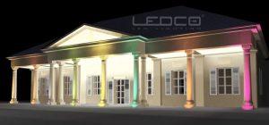 Vizualizácia osvetlenia - RGB LED osvetlenie budovy