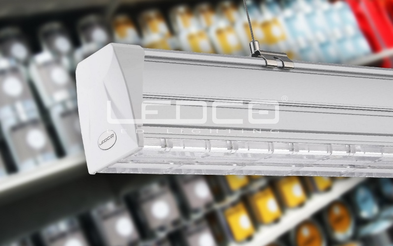 led osvetlenie do predajni supermarketov regalov skladov uliciek