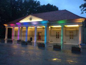 Výsledná realizácia osvetlenia budovy
