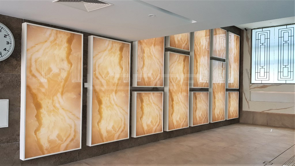 Podsvietenie Onyx kameňa LED modulmi