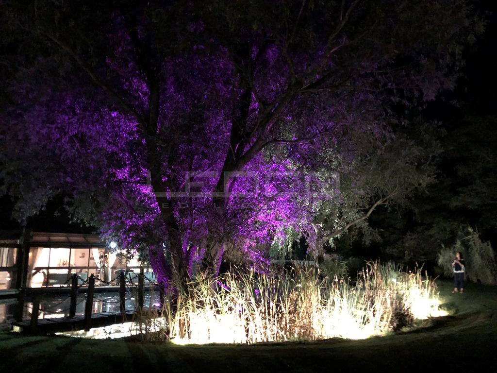 Osvetlenie záhrady dekoračnými LED lampami