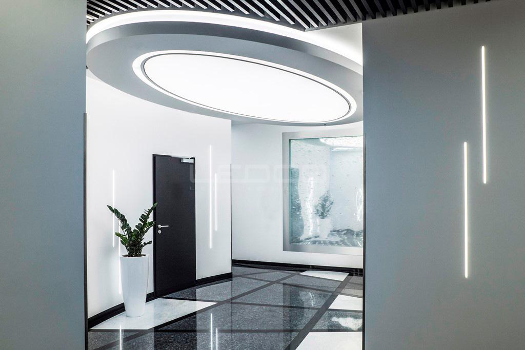 LED svetelný strop v tvare elipsy