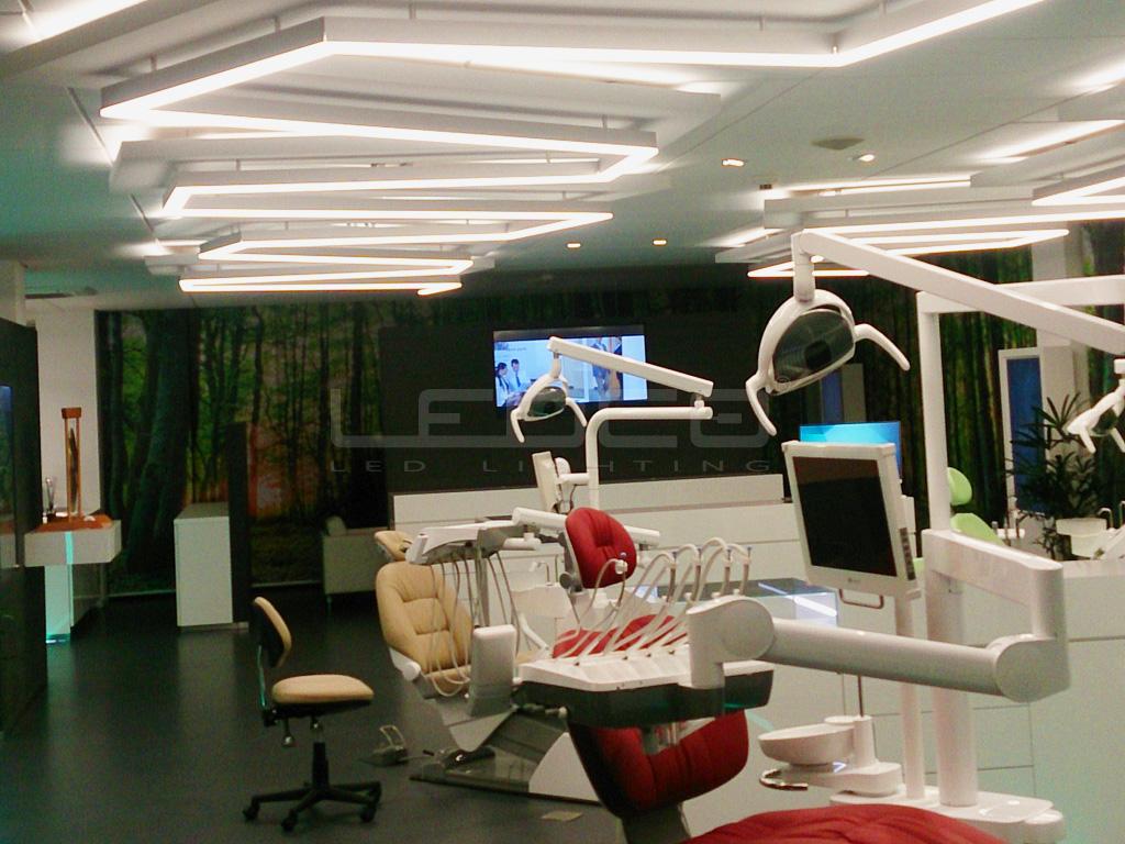 Osvetlenie zdravotníckeho zariadenia s LED - zubná klinika