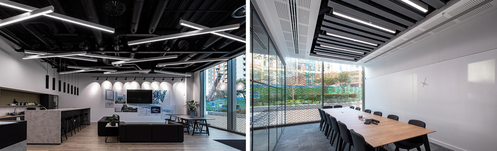 osvetlenie kancelárskych priestorov a pracovísk