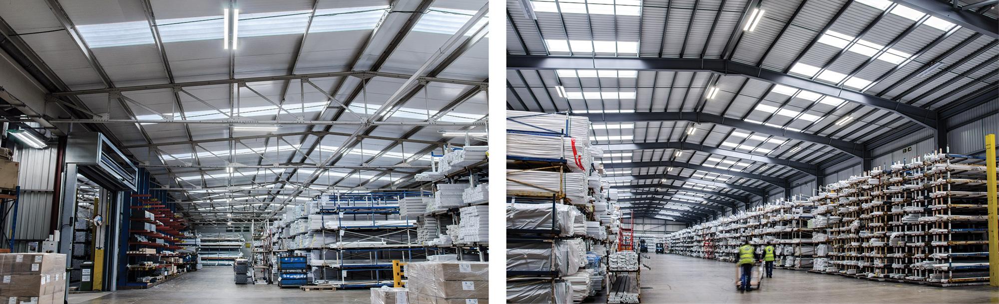 osvetlenie priemyselných a výrobných hál, závodov, skladov a exteriéru