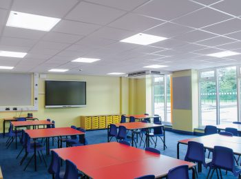 lighting of educational facilities, schools and gyms