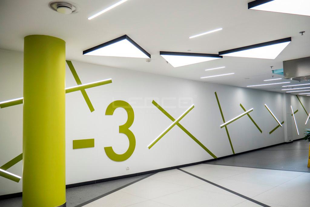 Štýlové LED svietidlá na mieru v obchodnom centre