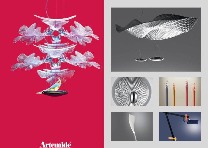 Dizajnové svietidlá Artemide - katalóg