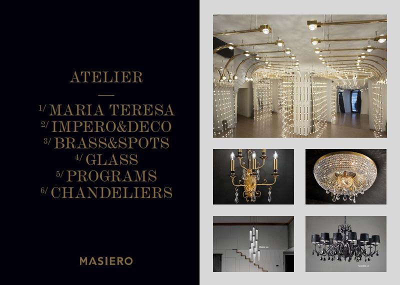 Dizajnové benátske svietidlá MASIERO ATELIER