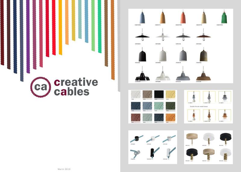 Katalóg doplnkov a textilných káblov pre výrobu svietidiel Creative Cables