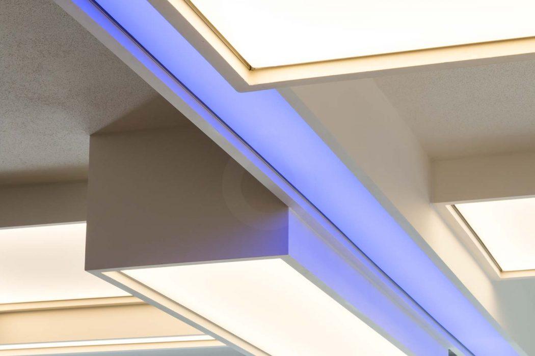 Unique light ceiling, Barrisol, light film, shining film