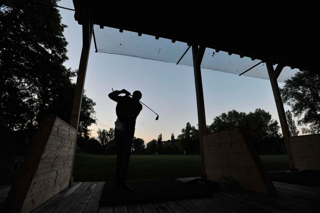Outdoor LED lighting on a golf course