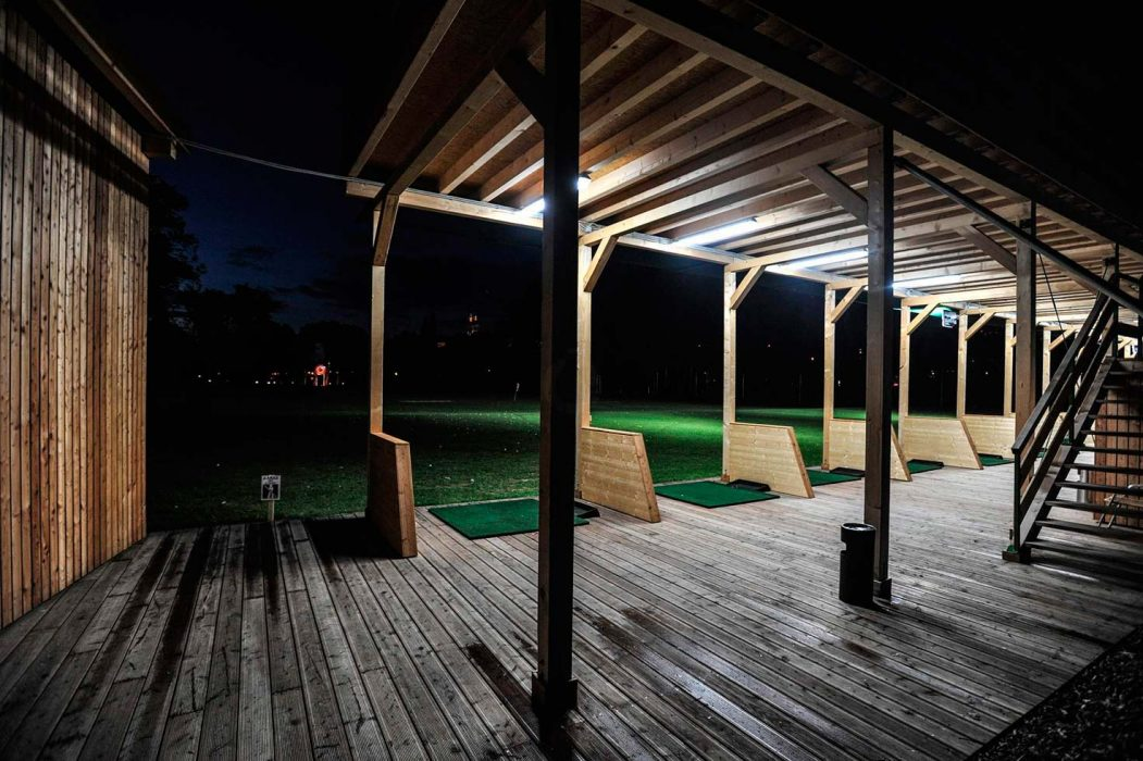 Exteriérové LED osvětlení na golfovém hřišti
