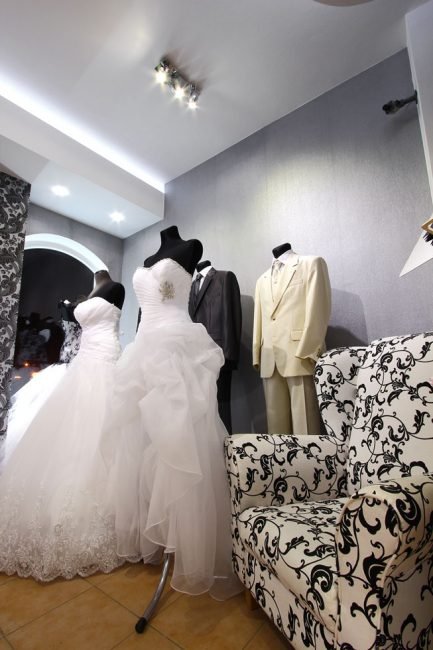 Svatební salon s LED osvětlením
