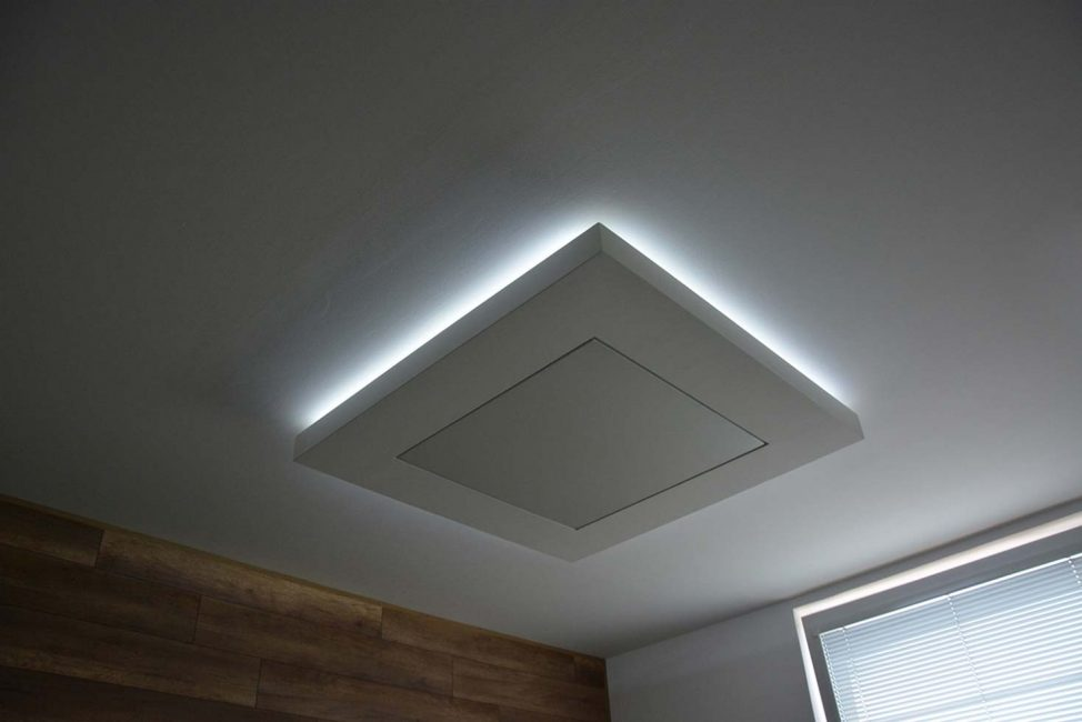 Stretched Barrisol ceiling with LED Matrix