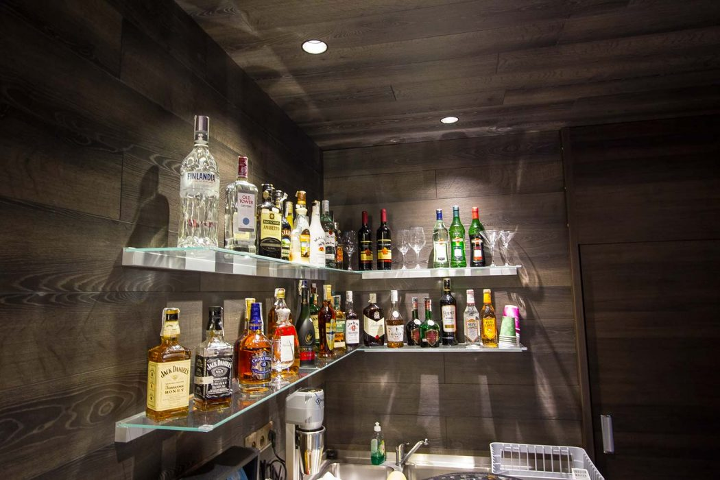 Bar LED spotlights, bottles