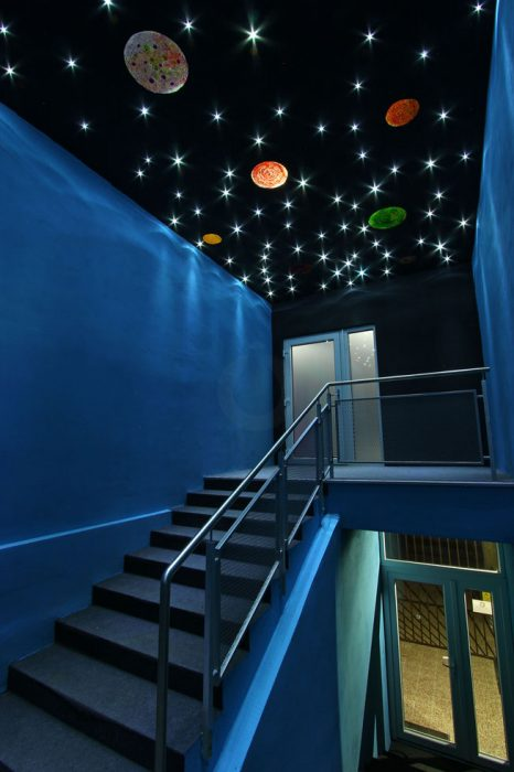 Starry sky above the staircase