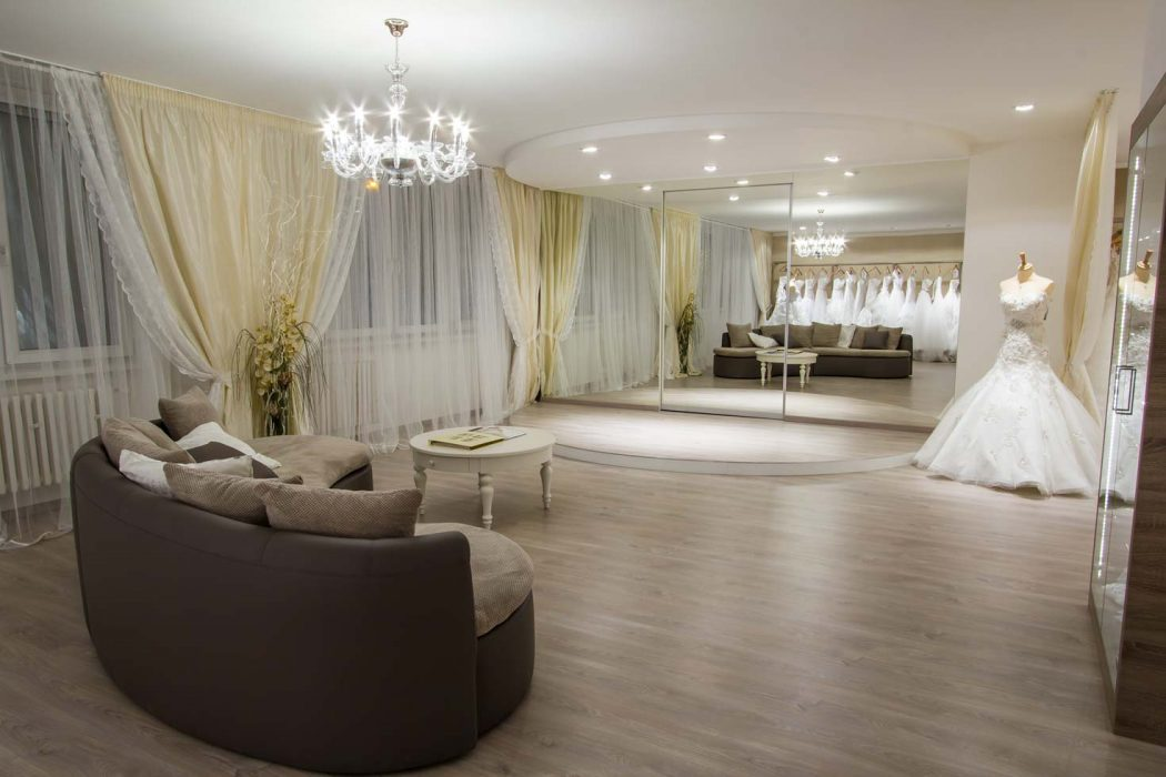 LED lighting in a wedding salon