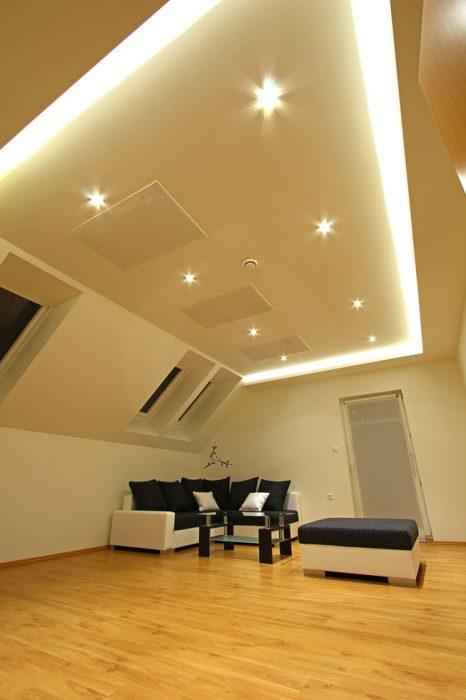 LED illumination of a hotel room