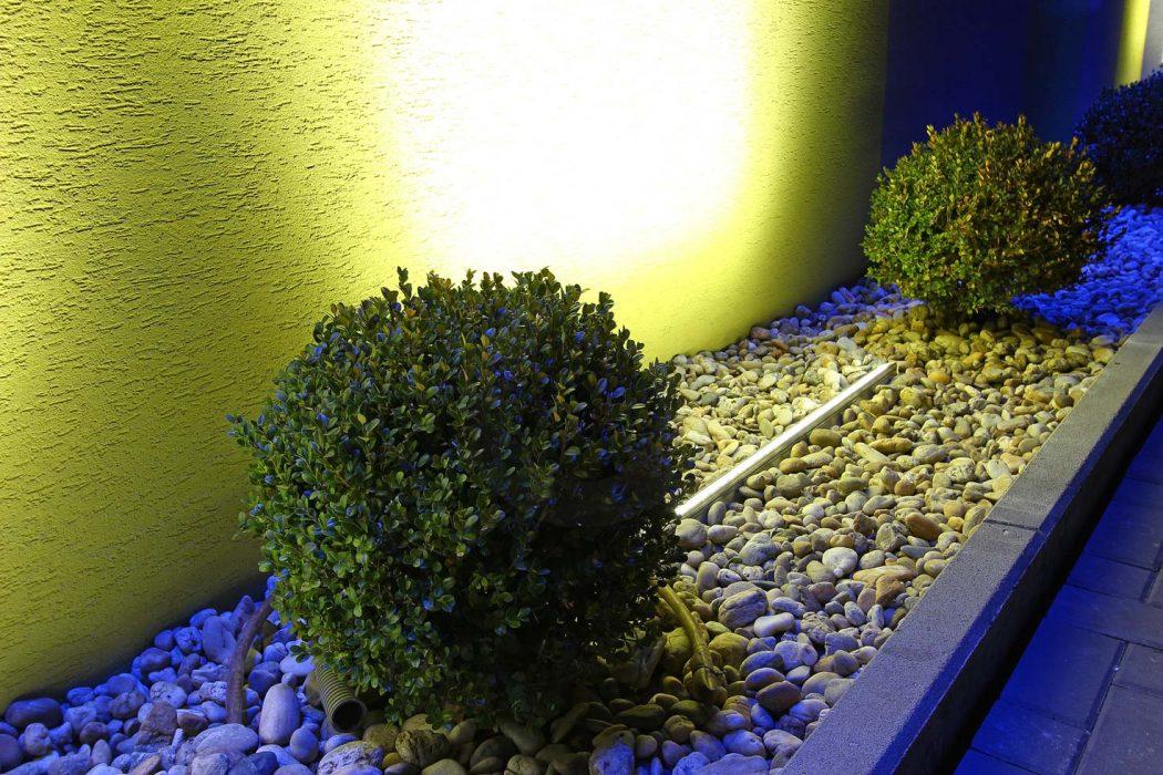LED illumination of the exterior