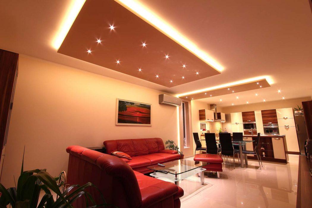 Spotlights in the living room