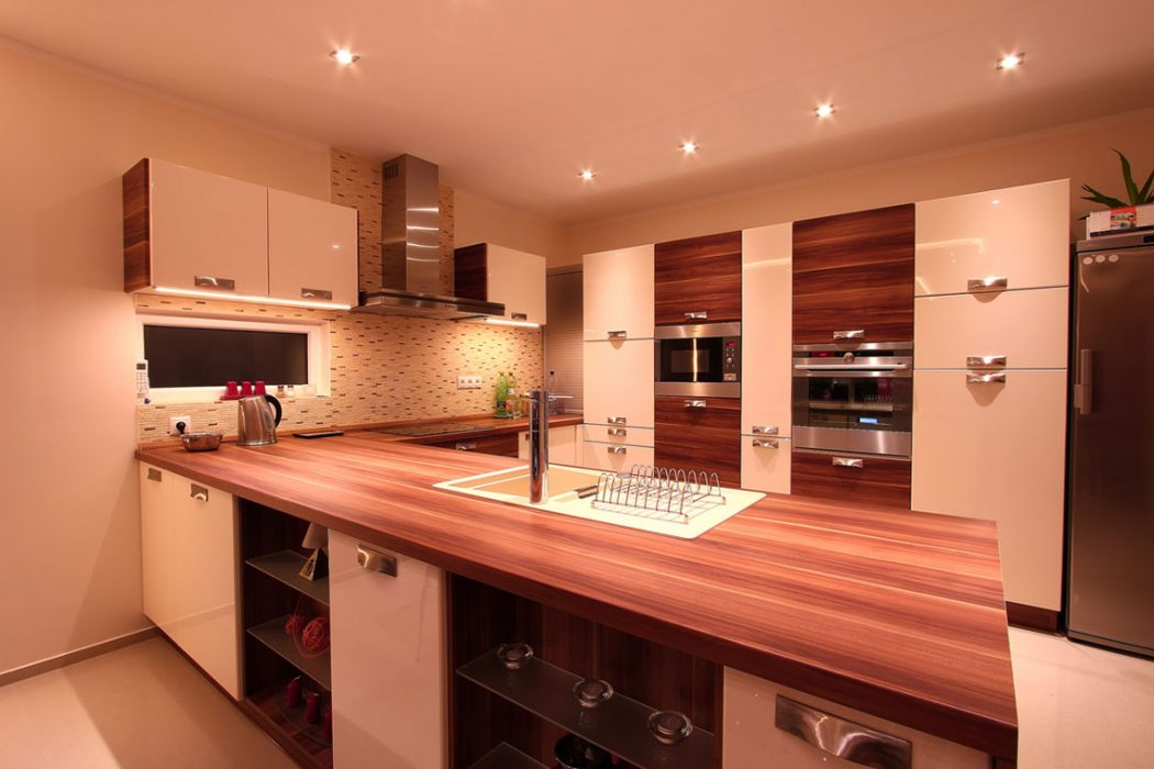 LED lights in the kitchen