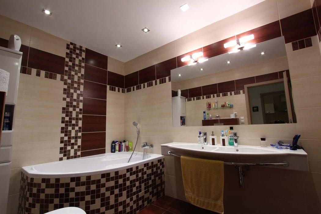 LED illumination of the bathroom