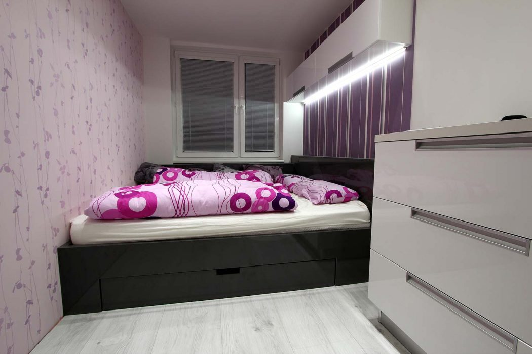 LED lamps in the bedroom
