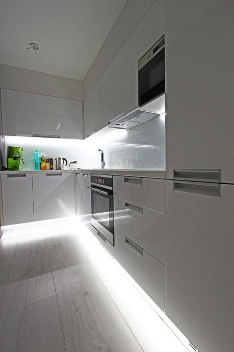 LED strip in the kitchen