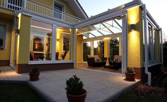 Osvětlení zimní zahrady s použitím LED profilů