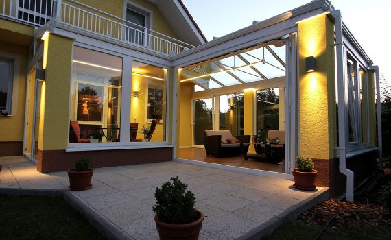 Winter garden illumination using LED profiles