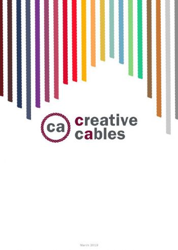 Catalog of textile cables and components for CREATIVE CABLES luminaires
