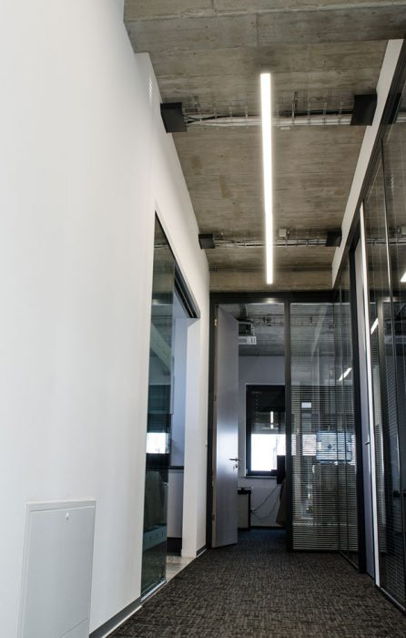 Line light in the corridor