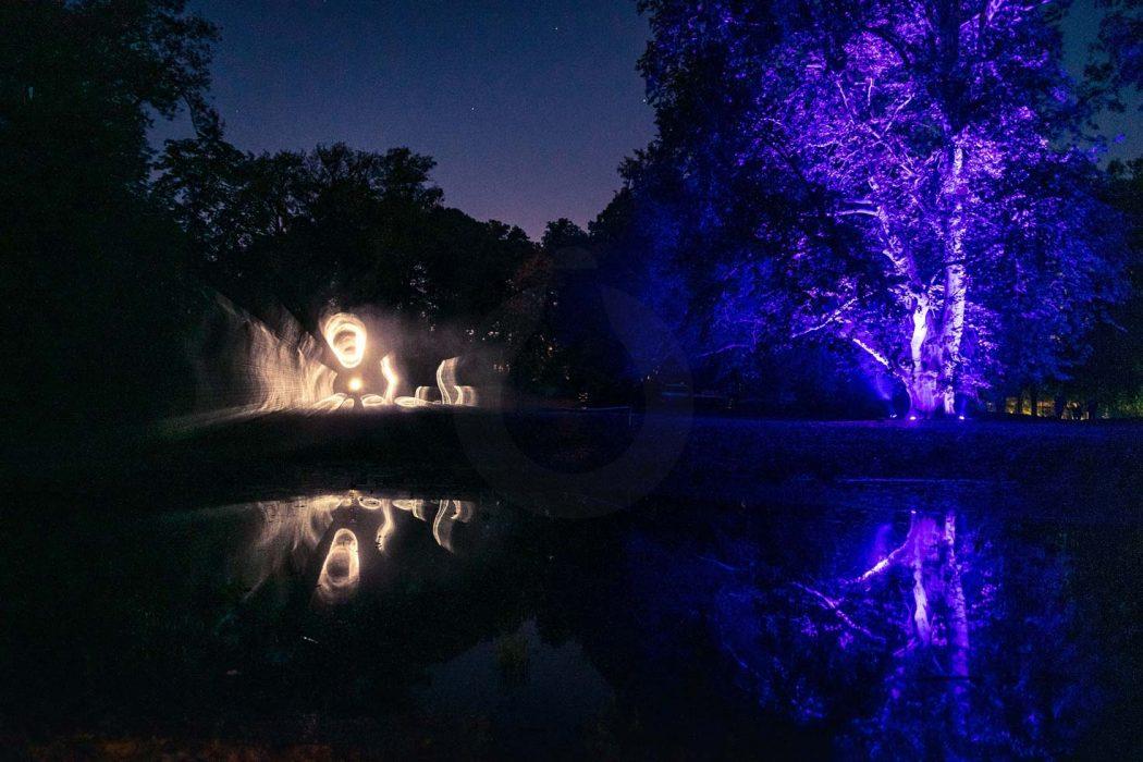 svetelná šou na festivale Lestival