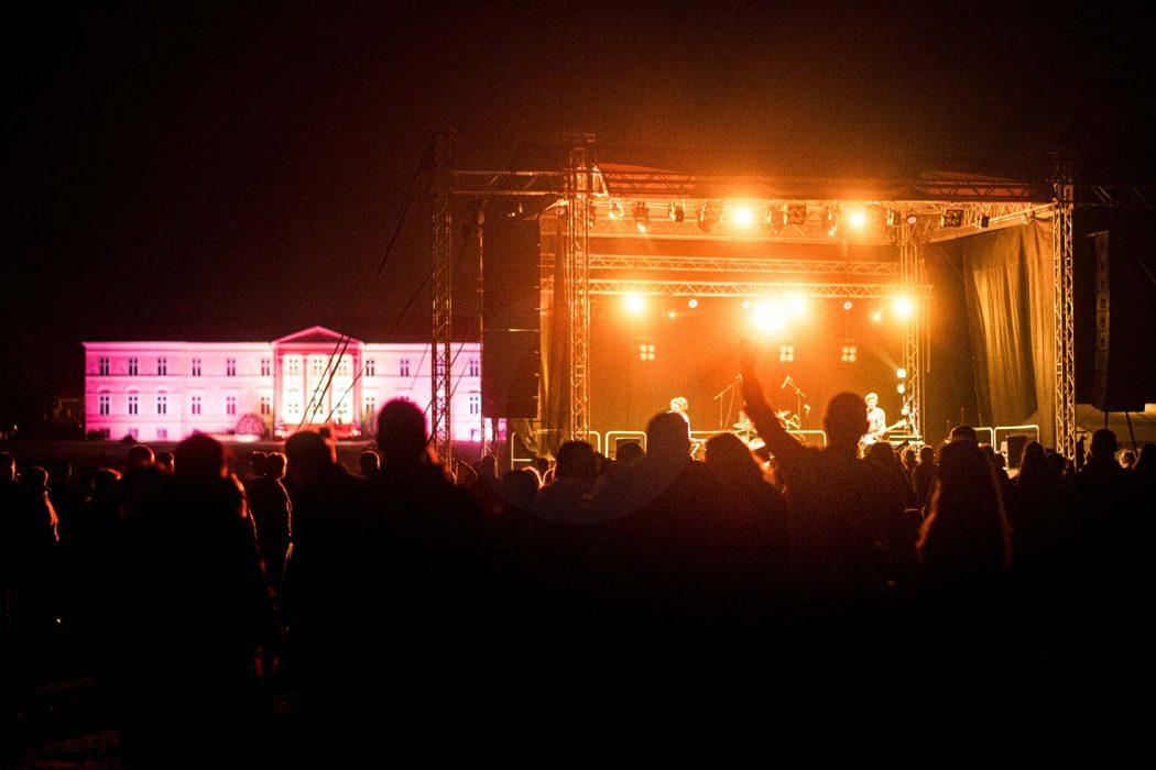 Nočný koncert, osvetlenie nočného koncertu, LED osvetlenie kaštielu Dolná Krupá