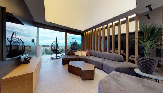 Napnutý strop, svetelný strop, podsvietený barrisol, LED matrix, napnutá fólia