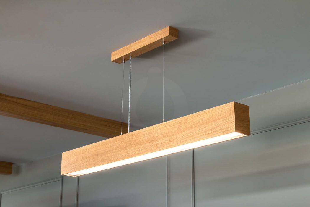 dřevěné svítidlo, woodLED Linus