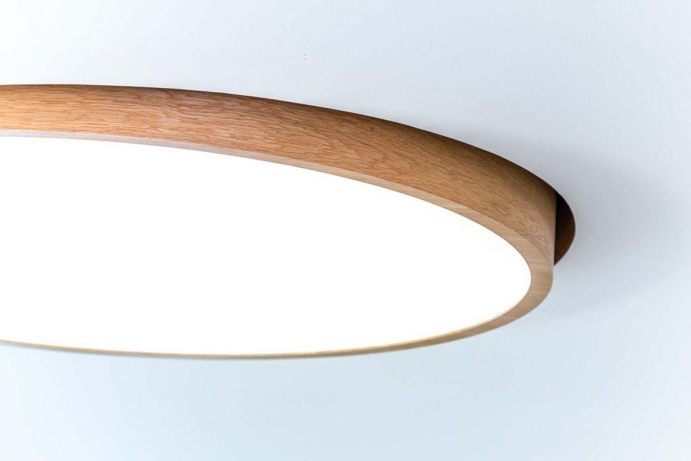 woodLED Tilt Round, drevené svietidlo Trilum, zapustené drevené svietidlo