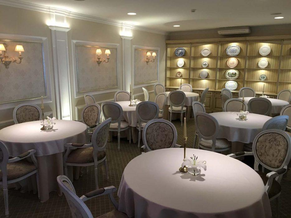 LED lights in the restaurant, restaurant illumination