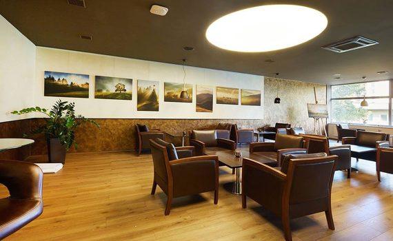 Osvětlení kavárny, napnutý strop, světelný strop, BARRISOL