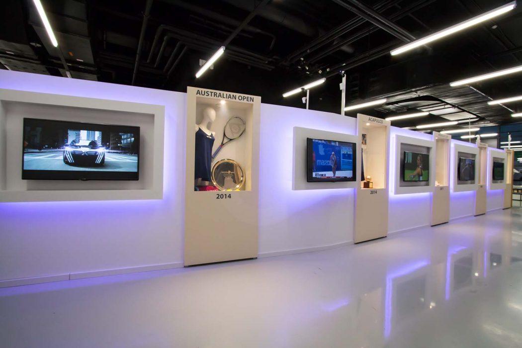 LED illumination of showcases, backlit plasterboard