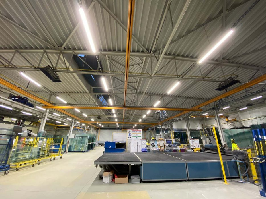 LED svietidlá vo výrobnej hale, svietidlá vo výrobe, výrobné svietidlá
