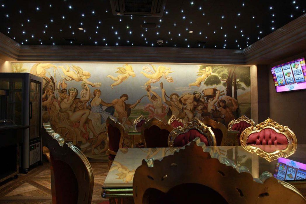 LED osvetlenie fresky na stene, LED nad obrazom