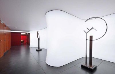 LED svetelné stropy Barrisol, akustické strečové fólie, stropy a steny s potlačou.